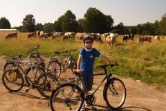 A Korondi terep-kerékpárúton a Kalonda-hágónál